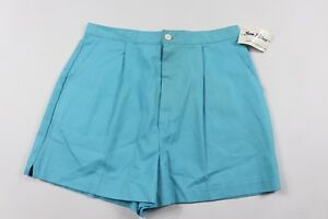 Vintage-80s-New-Sea-Palms-Womens-Size-12-Casual-Outdoor-Summer-Shorts-Light-Blue