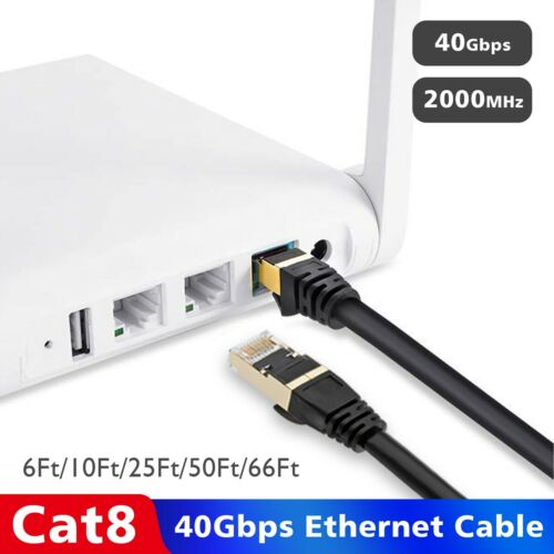 High Speed 26AWG Networking Cord Patch RJ45 LAN Shielded Outdoor Ethernet LOT