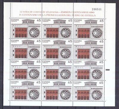 Europa Motive 2949 Zuversichtlich Spanien 1990 Postfrisch Verkündigung Der Rechtshoheit Von Estella Minr