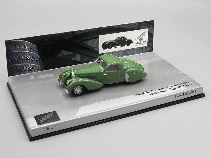 Minichamps 1 43 Bugatti Tipo 57C 1939 verde