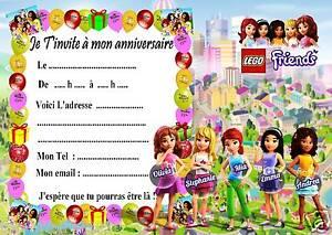 5 Cartes Invitation Anniversaire Lego Friends 04 D Autres Articles
