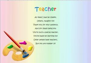 THANK YOU TEACHER - End of Term Personalised Poem ...
