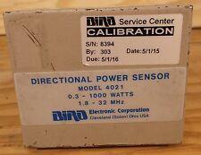 Bird 4021 Directional RF Thruline Power Sensor 1.8-32 MHz, 300 mW-1 kW