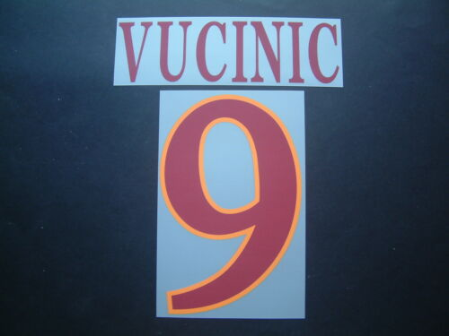 NOME+NUMERO UFFICIALE AS ROMA HOME//AWAY//3RD 2009-2011 official nameset