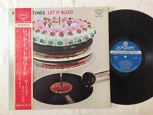 The Rolling Stones LET IT BLEED JAPAN ORIGINAL LONDON SLC 300 W/OBI LYRIC POSTER