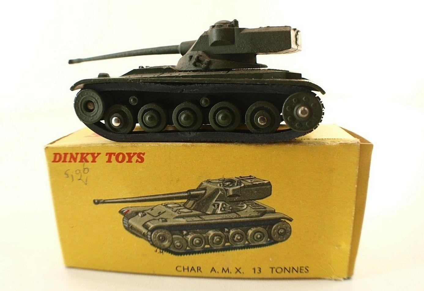 Dinky Juguetes F N º 80 C Tanque Amx 13 Toneladas Tank (Tanque) sin en Caja