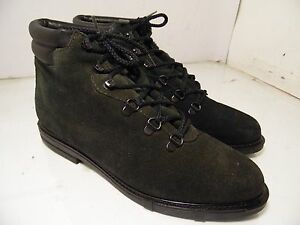 536f3d09f5f6 Eddie Bauer Black Suede Leather Ankle Chukka Lined Boots Womens Sz 9 ...