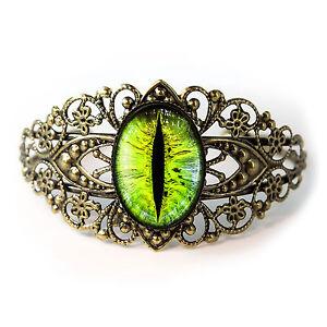 Human Eyeball Taxidermy Eye Horror Halloween Glass Black Bangle Charm Bracelet