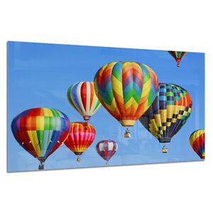 Obligeant Verre Trempé Impression Photo Wall Art Photo Coloré Ballons Ciel Prizma Gwa0326-afficher Le Titre D'origine