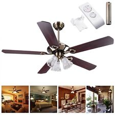 Yescom 52 5 Blades Ceiling Fan With Light Kit Antique Bronze Reversible Remote Control