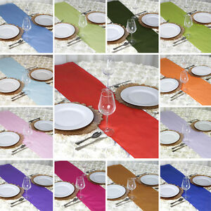"""12"""" x 108"""" Polyester Table Runner Wedding Party Dinner Table Supply Decorations"""