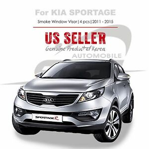 Details about Smoke Window Vent Visors Rain Guards Wind Deflectors for Kia  Sportage 11-16 NEW 5122d398ccc