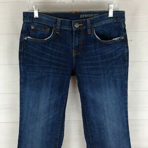 GAP-womens-size-6-Ankle-stretch-blue-distressed-dark-wash-mid-rise-bootcut-jeans