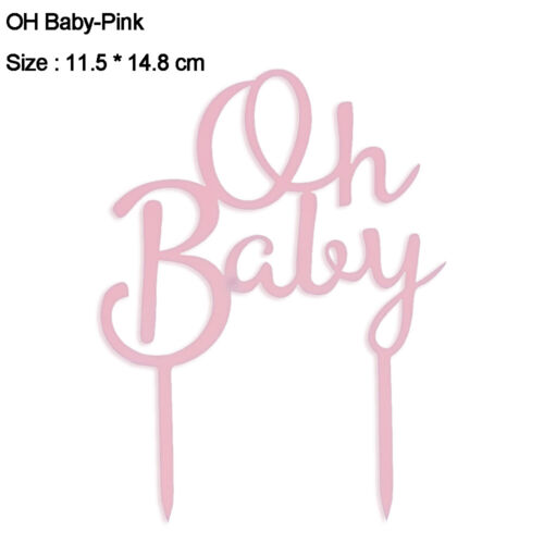 "/""Oh Baby/"" Happy Birthday Cake Topper Cake Decorating Tool Party Decoration"