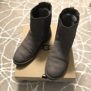 253f82331db Details about [Pre-owned] UGG Larra Nubuck Boots, Women Size 7, Charcoal