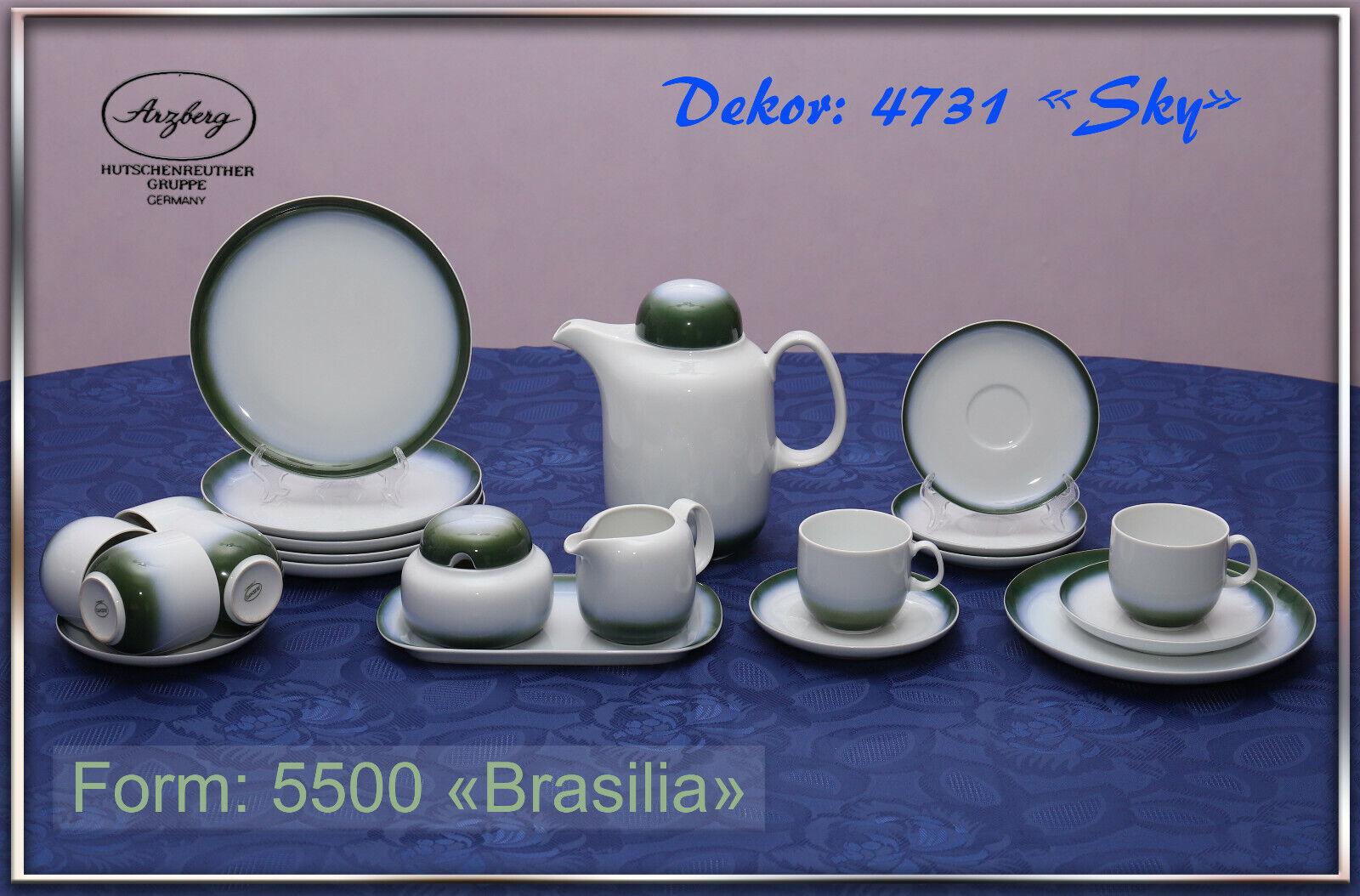 Kaffeeservice 6Pers. Arzberg Form 5500 Brasilia Brasilia Brasilia Dekor 4731 Sky Hutschenreuther a56375