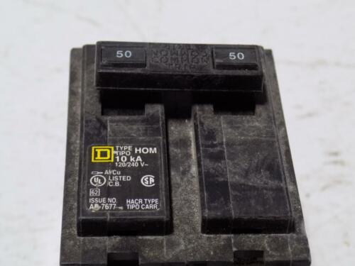 SQUARE D 50A 10KA 2-POLE CIRCUIT BREAKER TYPE-HOM LOT OF 5