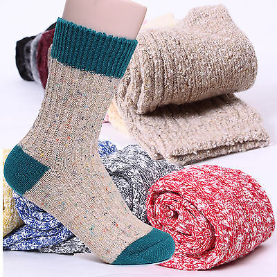 Choice ! Women Winter Thermal Socks Cozy Angora knit Wool Thick Cotton