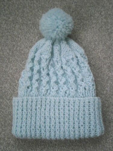 New Hand Knitted Baby Boy Bobble Hats-nouveau né