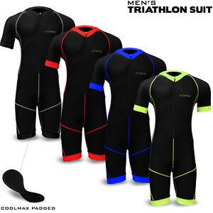 Homme-Triathlon-Combinaison-Cyclisme-Course-Natation-Compression-Tri-Combinaison-rembourree