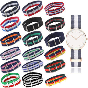 Infantry-Military-Army-Fabric-Buckle-Nylon-Unisex-Wrist-Watch-Band-Strap-18-22mm