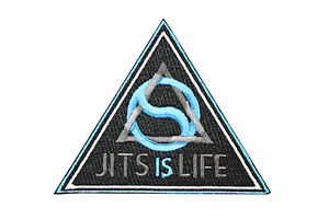 Jiu Jitsu BJJ Gi Patch JITS IS LIFE Jiu Jitsu Gift IRON-ON Stocking Stuffer