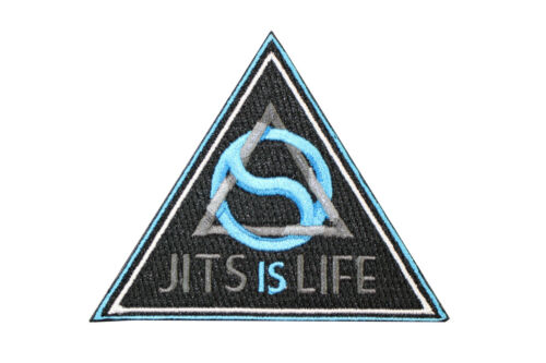 Jiu Jitsu BJJ Gi Patch JITS IS LIFE Jiu Jitsu Gift IRON-ON Stocking Stuffer