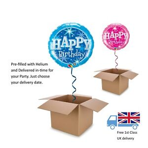 Image Is Loading 18 034 Qualatex Pink Or Blue Happy Birthday