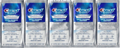 5 Crest 3d White Luxe Supreme Flex Fit Whitestrips Teeth