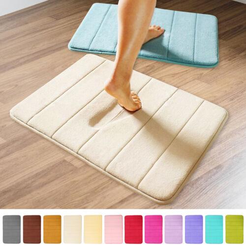 Absorbent Soft Memory Foam Mat Bath Bathroom Bedroom Floor Shower Rug Decor /_C