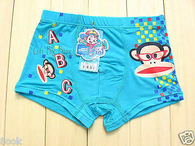 5PCS Cartoon Modal Boxer Briefs Underwear Underpants for Boys Kids Size: 4T-14T