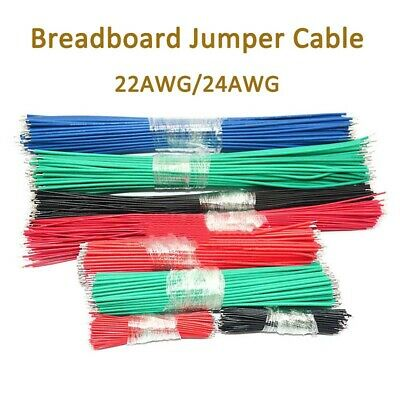Breadboard Jumper Cable Wires 24 AWG//22 AWG Double ends Tin Plated 5cm-30cm