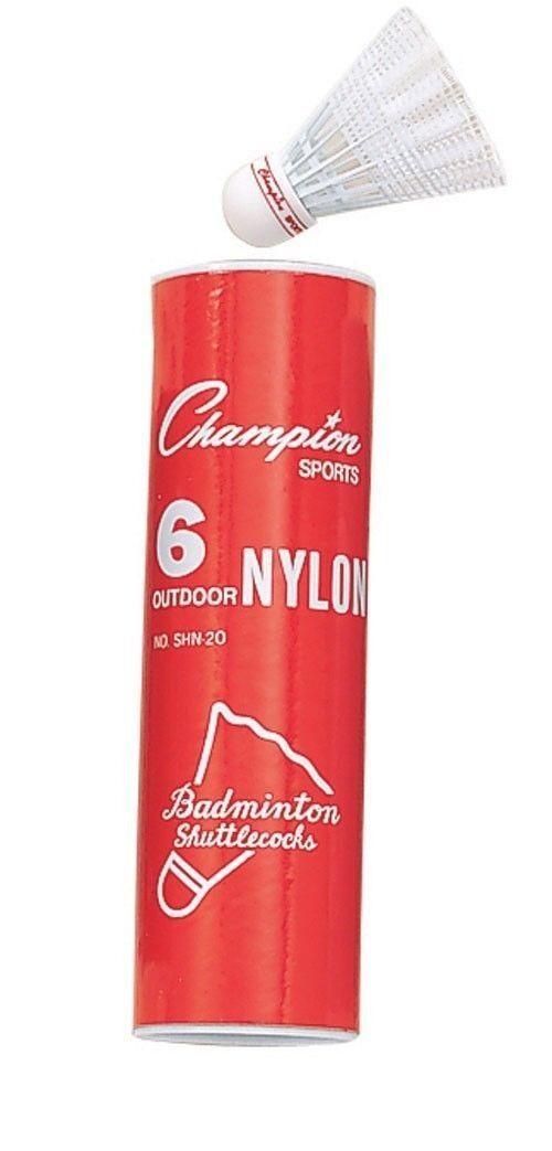 Nouveau Champion Tube Of 6 Tournoi Extérieur Nylon R Badminton Oiseaux Volants R Nylon e40b0c