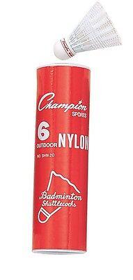 Realistic Neu Champion Schlauch Mit 6 Turnier Außen Nylon Badminton Birdies Federball R Badminton