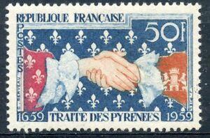 Stamp / Timbre France Neuf N° 1223 ** Symbole Du Traite Des Pyrennes