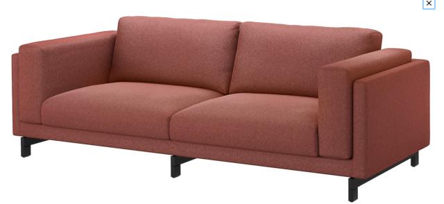 3 IKEA NOCKEBY Three Seat Sofa Cover Slipcover RISANE WHITE New in Box!