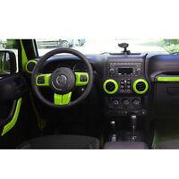 10pcs Car Interior Parts Decoration Inner Dashboard Trim For Jeep Wrangler L