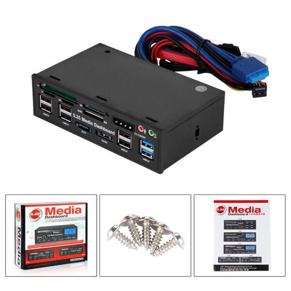 All IN 1 Multi Frontpanel 5.25 Kartenleser USB 3.0 Six USB 2.0 Media Dashboard
