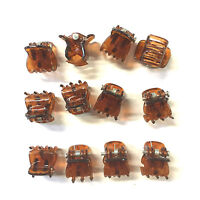 12 x Mini Plastic Hair Claw Clamps Bulldog Clips Grips Style Fashion Accessory