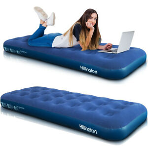 Single-Flocked-Camping-Airbed-Inflatable-Mattress-Blow-Up-Indoor-Outdoor-Air-Bed