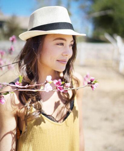 Summer Men/'s Women Beach Sun Hat Short Brim Natural Straw Fedora Trilby Hats