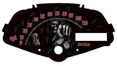 Honda Fury Custom Speedometer Face You/'re Next 2 MPH or HM//H