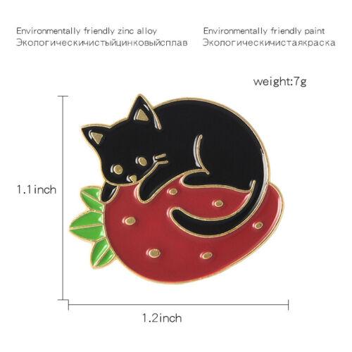 Funny Avocado Pizza Cat Tiger Butt Bat Fox Animal Enamel Brooch Pins Badge Gifts