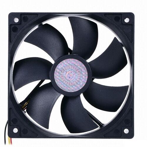 [CoolerMaster] 120mm SLEEVE FAN, 25T, 3pin, 1200rpm, Cooling Case Fan, Black