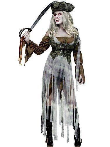 FANCY DRESS ZOMBIE PIRATE WOMENS COSTUME