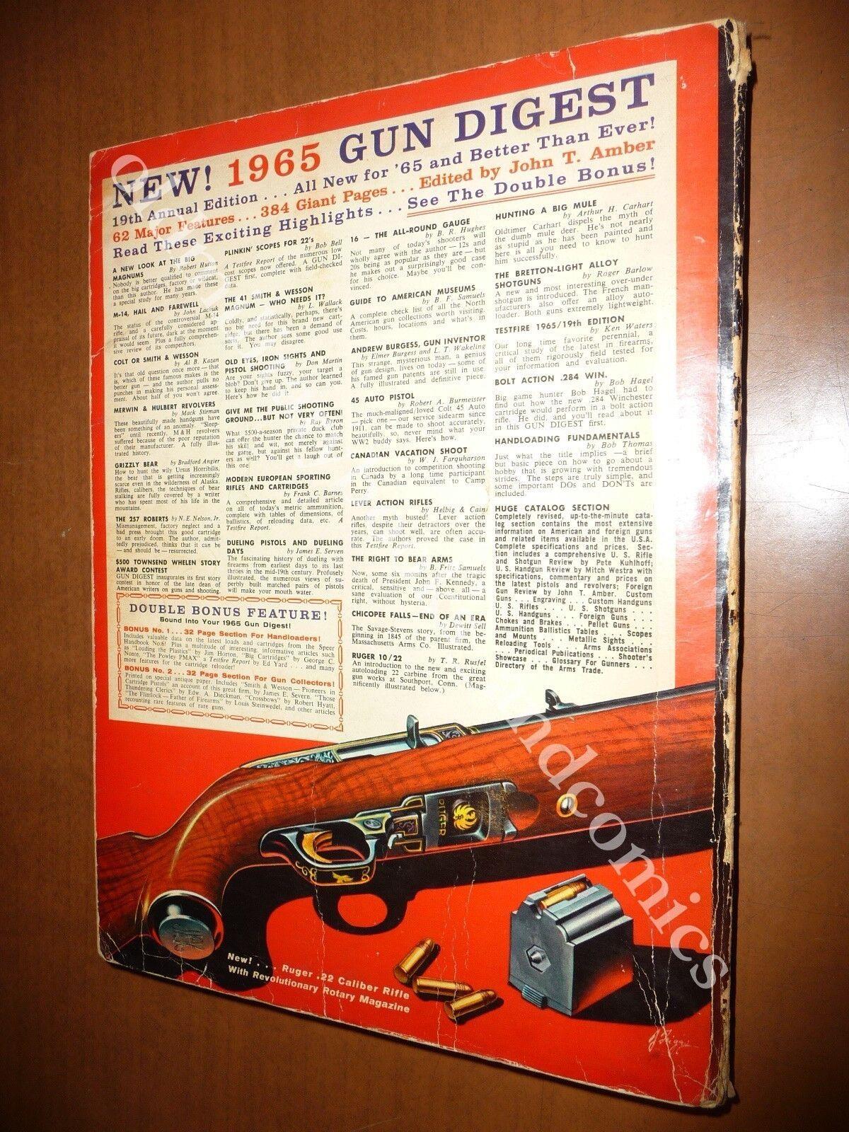 GUN DIGEST 1965 WORLD'S GREATEST GUN BOOK JOHN T. AMBER PISTOLE FUCILI REVOLVER