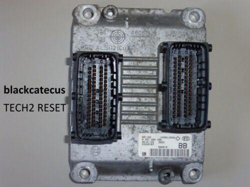 55558787 BB 0261208396 Vauxhall Opel ASTRA H 1.4 Z14XEP 16V TECH2 RESET ECU ECM
