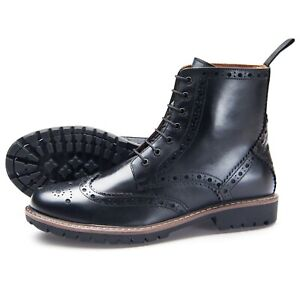 Samuel-Windsor-Men-039-s-Handmade-Fairfield-Black-Casual-Chelsea-Boots-UK-Sizes-5-14