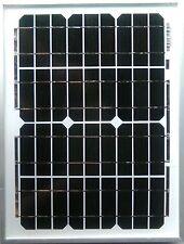 10w 10 WATT SOLAR PANEL 12 volt 12V 2M cable croc clips diode campervan caravan
