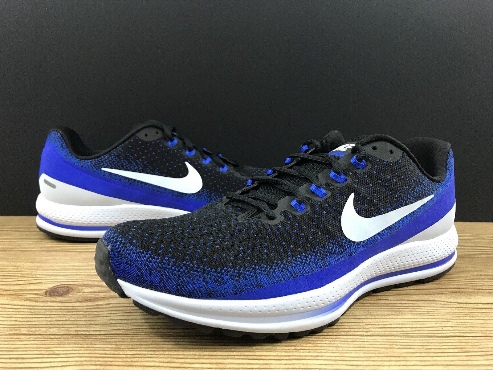 Nike Air Zoom Vomero 13 Men's Running shoes Sz 14 922908-002 Black Racer bluee